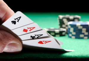 four aces in poker is called