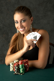 Texas Hold'em Poker player